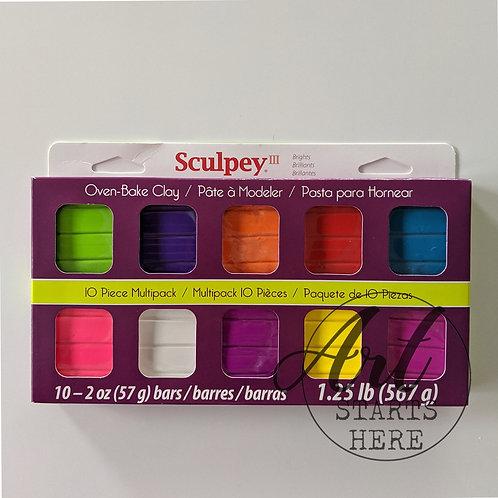 Sculpey 3 Bright Ideas 10 pack 57g bars