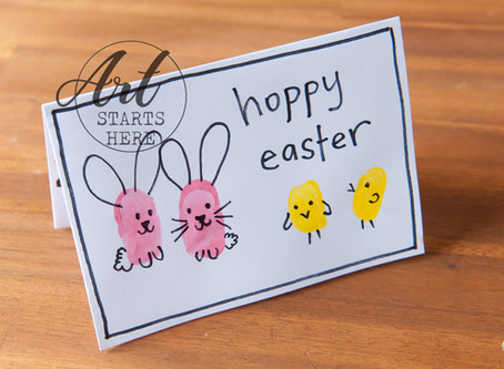 Easter Finger Print Cards