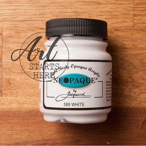 Jaquard Neopaque White acrylic fabric paint