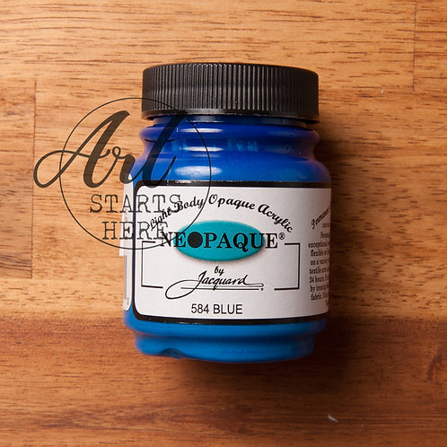 Jaquard Neopaque Blue acrylic fabric paint