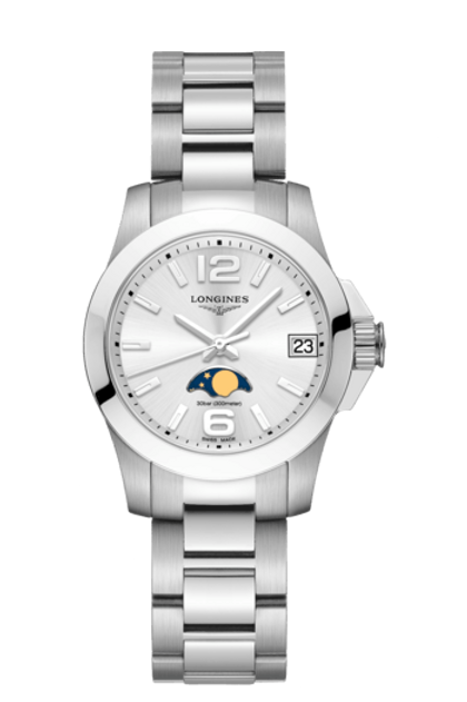 Longines Geneve Conquest Lady Moonphase L3.380.4.76.6