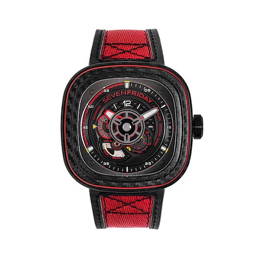 Seven Friday Geneve Watch Addict GVA P3C/04 - RED CARBON