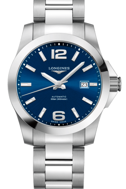 Conquest Blue 41MM L3.777.4.99.6