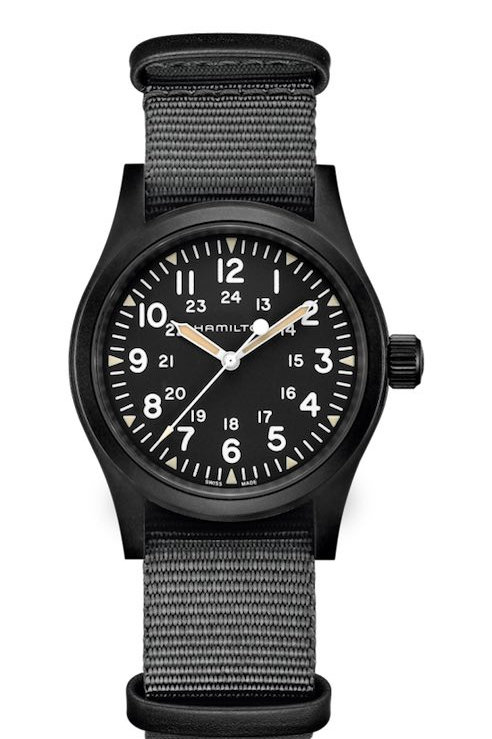 Hamilton-Geneve-H69409930-Khaki-Field-Mechanical-Black-PVD