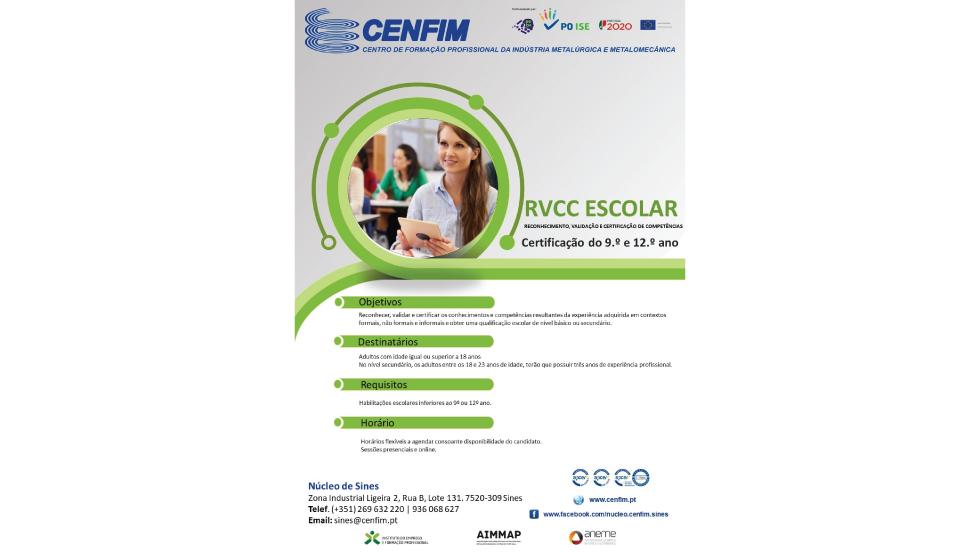 Núcleo de Sines do CENFIM promove processos de RVCC