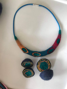 Various felt jewellery