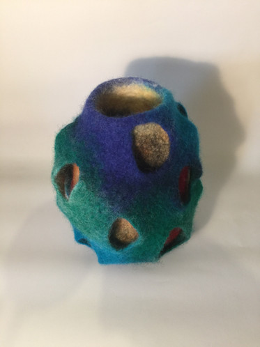 Double wall felted vessel
