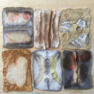Samantha Tannous felt landscapes