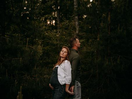 zwangerschapsshoot Justin + Maaike & labrador Senna