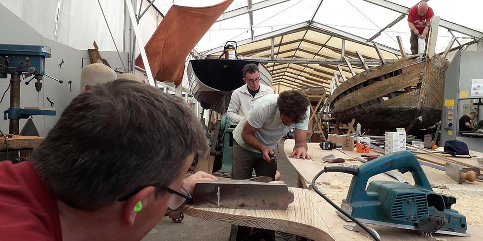 Atelier collectif de restauration de bateau