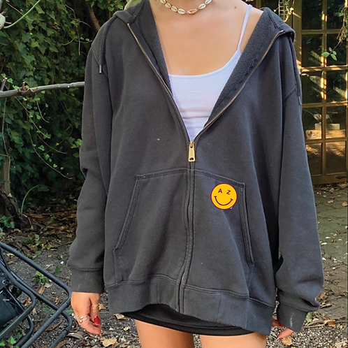 AZ Smiley Zip Up
