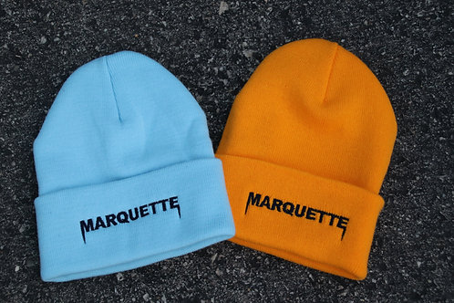 Marquette embroidered beanie