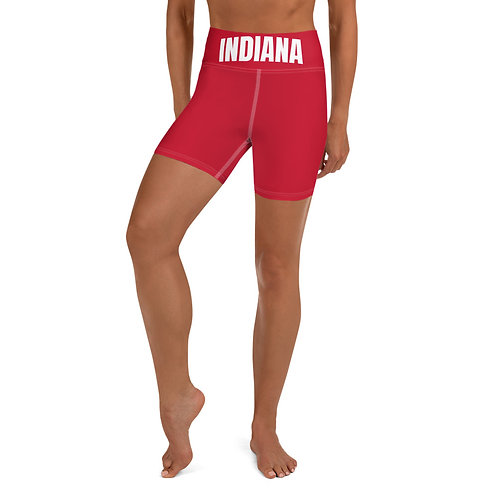 school banded biker shorts- Indiana