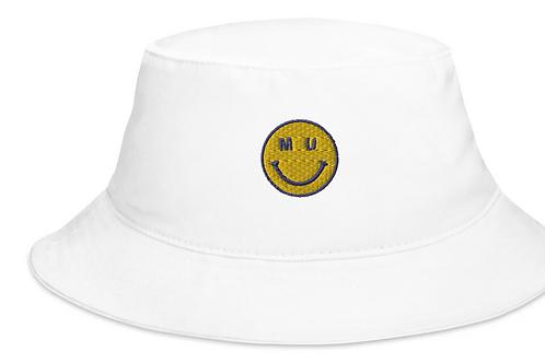 MU Smiley Embroidered Bucket Hat