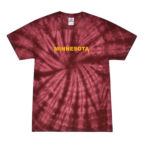 Minnesota Embroidered Tie Dye Tee