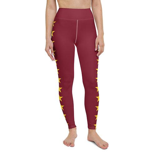 Maroon Star Leggings