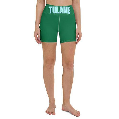 Tulane Biker Banded Shorts