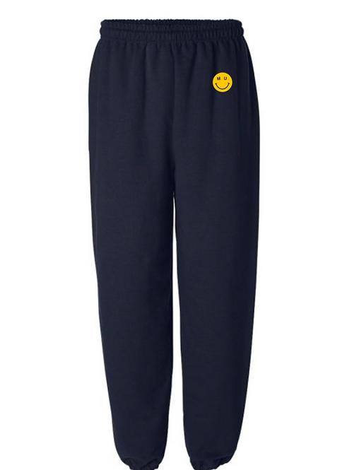 MU Smiley Embroidered Sweatpants