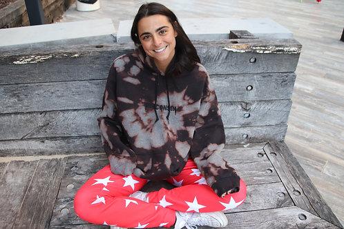 Acid wash kanye embroidered sweatshirt