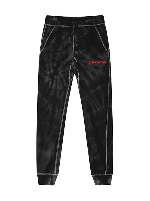 Ohio State Embroidered Tie Dye Joggers