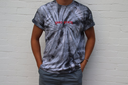 Ohio State Embroidered Tie Dye Tee