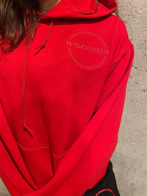 Wisconsin Circle Monochromatic Hoodie