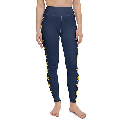 Navy&Gold Star Leggings