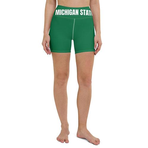 Michigan State Biker Shorts
