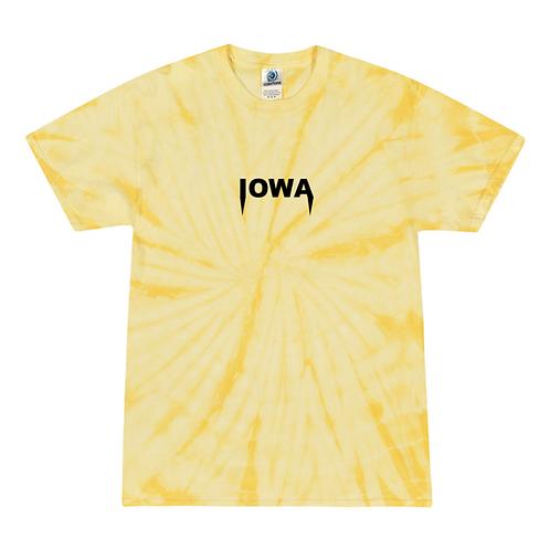 Iowa Embroidered Tie Dye Tee