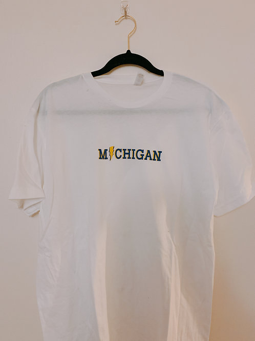 Michigan lightning bolt tee