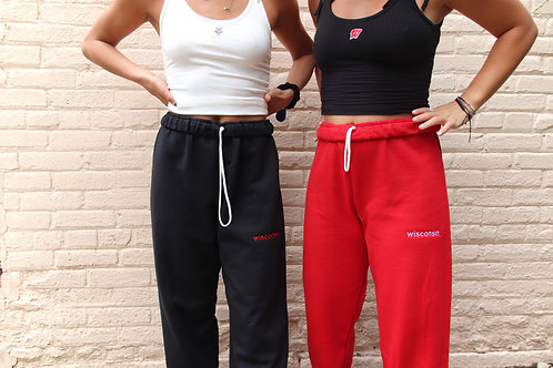 wisconsin. Embroidered Sweatpants