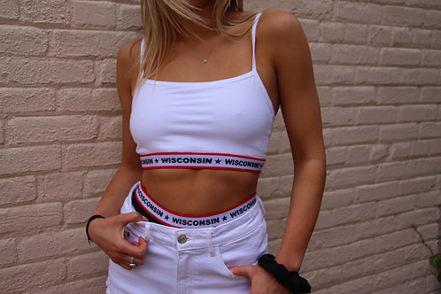 Wisconsin Banded Thin Strap Bandeau