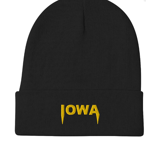Iowa Embroidered Beanie