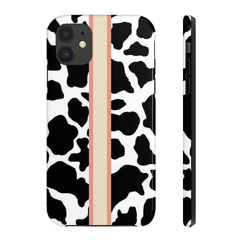 cow stripe tough case