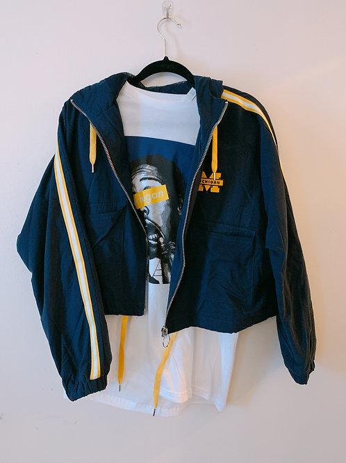 Michigan patch striped jacket