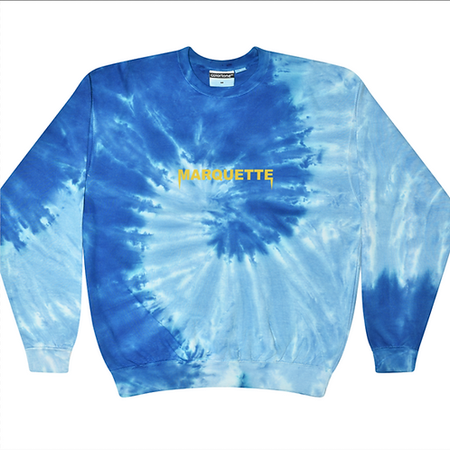 Marquette Tie Dye Embroidered Crew