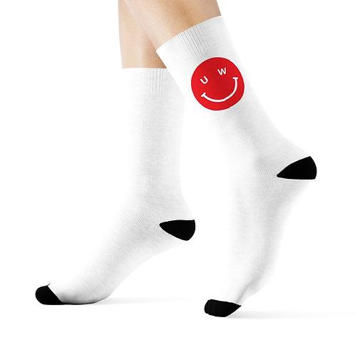 UW smile crew socks