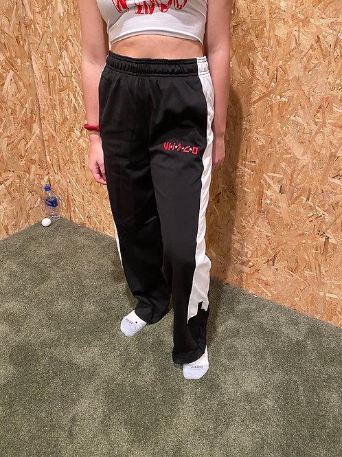 Black Wisco kiss track pants
