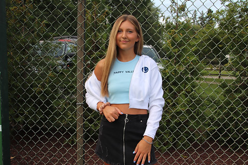 PS Smiley Cropped Zip-Up
