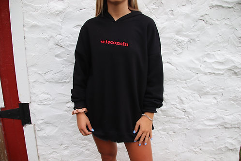 Wisconsin Embroidered Cloud Hoodie
