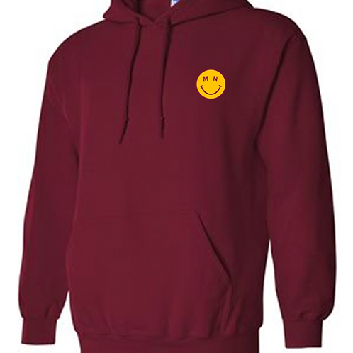 MN Smiley Embroidered Hoodie
