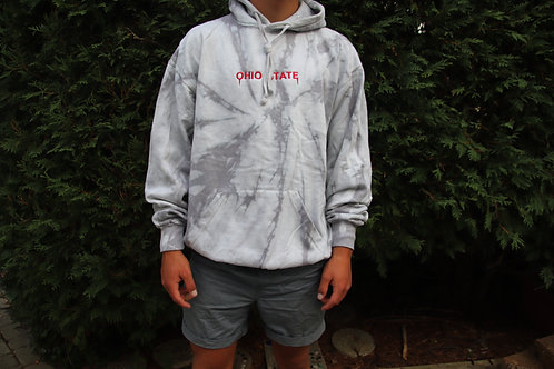 Tie Dye Ohio State Embroidered Hoodie