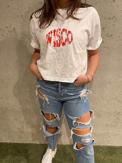 Wiscow Oversized Cropped Tee