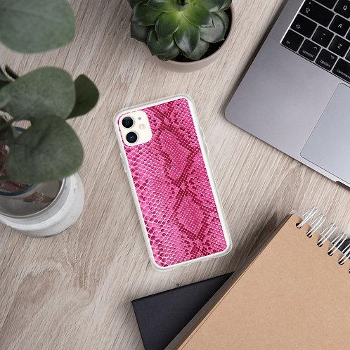 Pink snakeskin Case