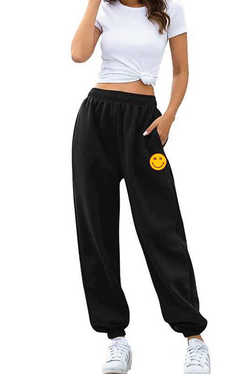 MN Smiley Embroidered Sweatpants