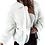 Thumbnail: fuzzy zip up fleece jacket