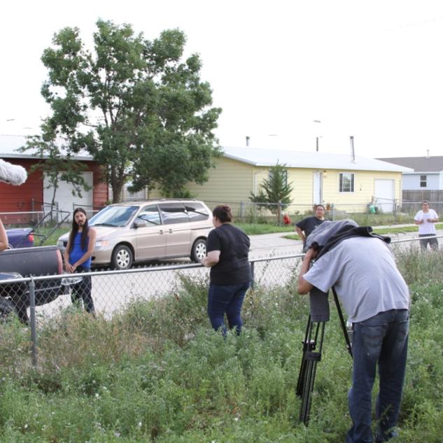 Shooting outdoor scene