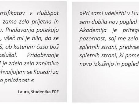 Več kot 120 študentov EPF z opravljenimi HubSpot certifikati📜
