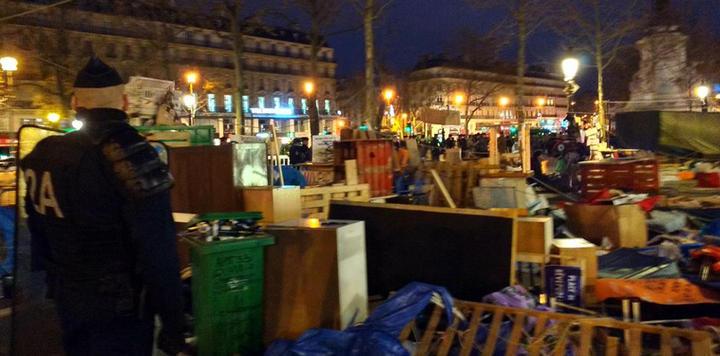 Evacuation de Nuit Debout, Paris
