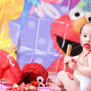 Cake Smash for Everlys 1st